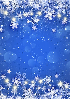 Christmas snowflakes and stars