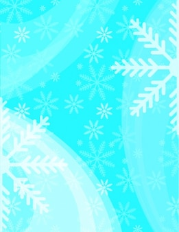 Christmas snowflakes winter vector background