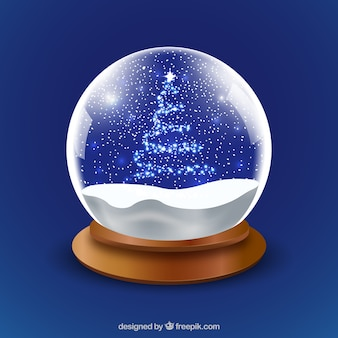 Christmas snowglobe background