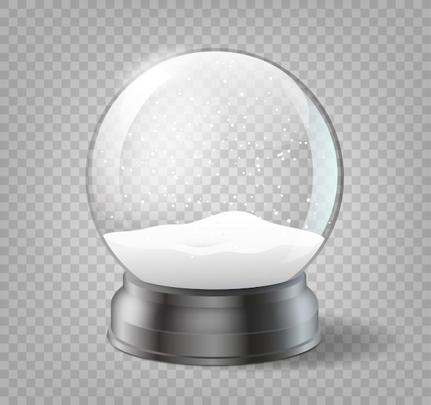 Christmas snowglobe on transparent background