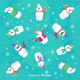 Рождественский фон снеговика