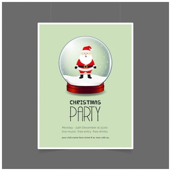 Christmas snowman party poster