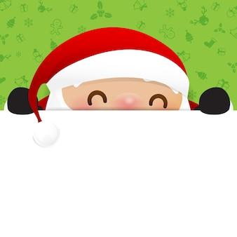 Christmas snowman santa claus cartoon smile