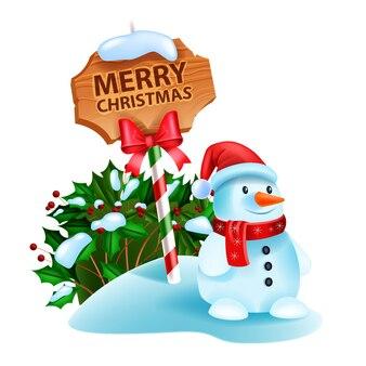 Рождество снеговик векторные иллюстрации зимний курортный сезон мультипликационный персонаж дорожный знак холли