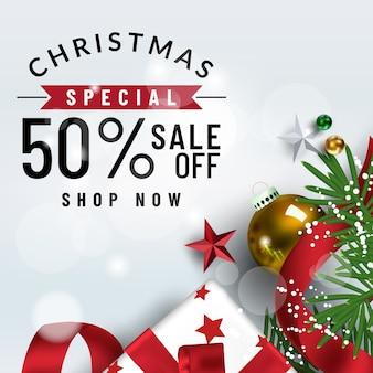 クリスマスソーシャルメディアポモテ、プロモーション投稿テンプレート。ソーシャルメディアの投稿正方形フレーム