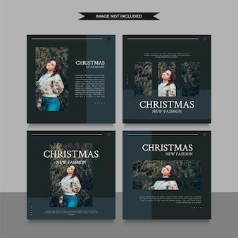 クリスマスのソーシャルメディアの投稿またはストーリーテンプレート