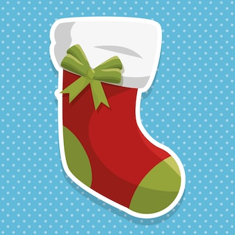 Christmas sock decoration icon