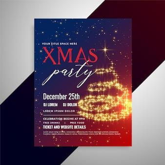 Christmas sparkles flyer design template