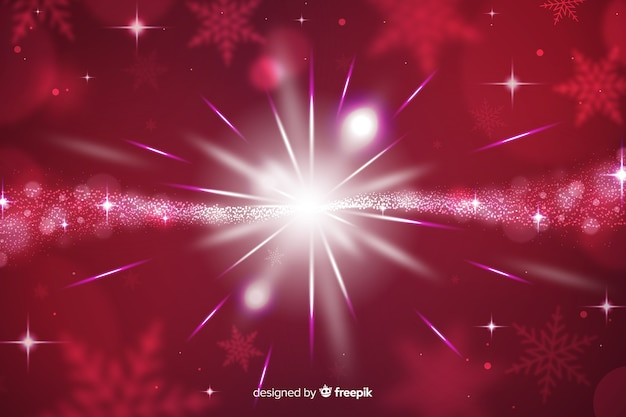 Christmas sparkling background and stars