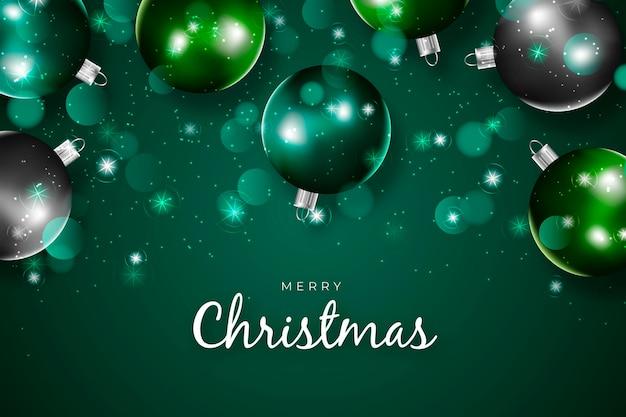 クリスマスのきらめく背景 無料ベクター