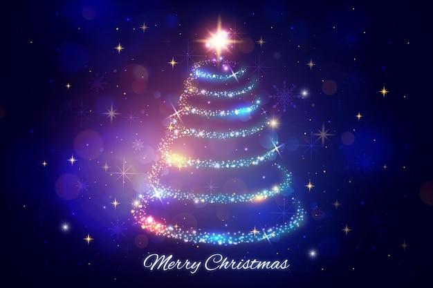 クリスマスのきらめく背景