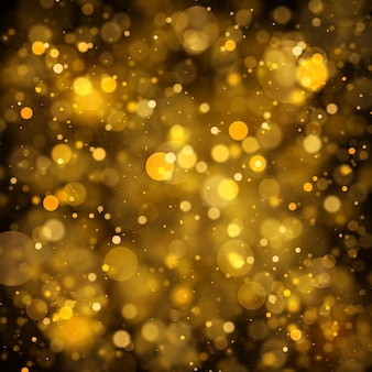 Christmas sparkling magical dust particles magic concept background with bokeh effect vector