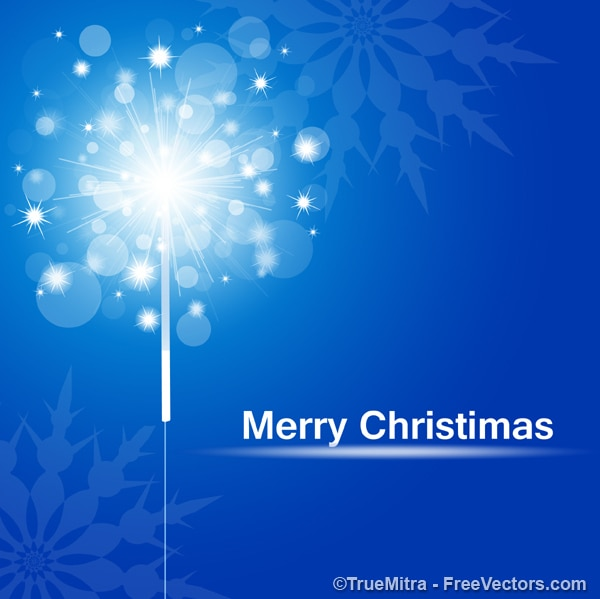 Christmas sparks greeting card