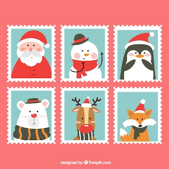 Коллекция рождественских марок