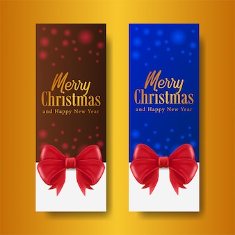 Christmas standing banner template