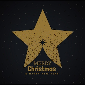 Christmas star on a black background