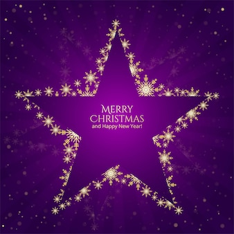 Christmas stars snowflakes on purple background
