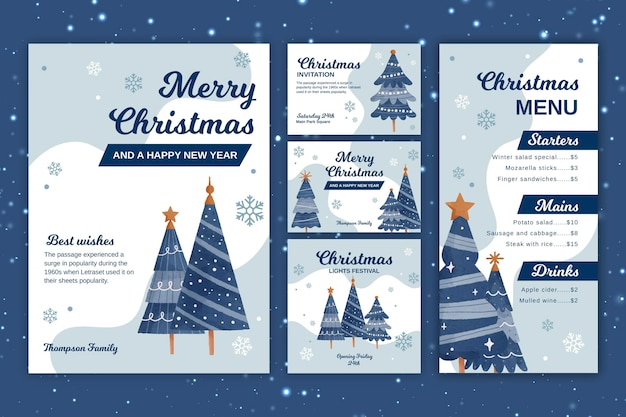 Christmas stationery collection