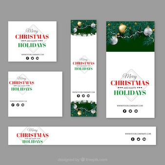 Christmas stationery with gifts