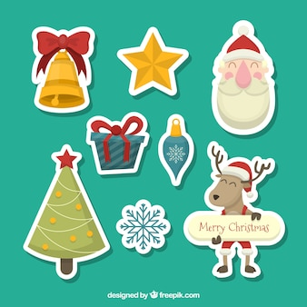 Christmas stickers collection
