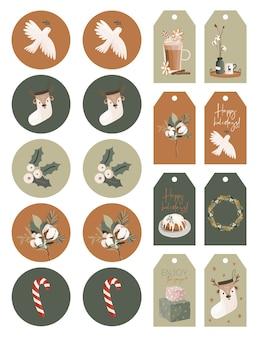 Christmas stickers sheet.