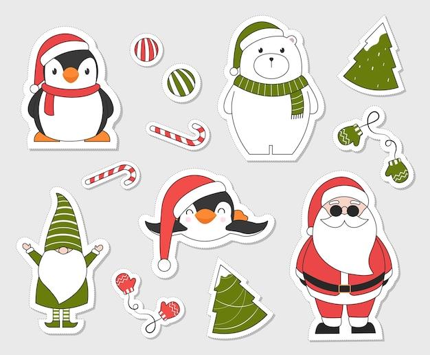 크리스마스 스티커.