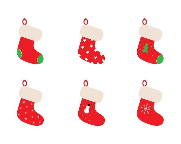 Рождественские чулки установлены