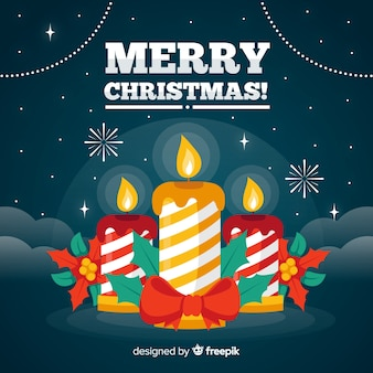 Christmas striped candles background