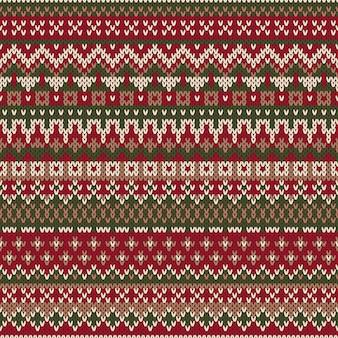 Рождественский дизайн свитера. бесшовный вязаный узор в традиционном стиле fair isle