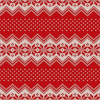 Christmas sweater design seamless knitting pattern