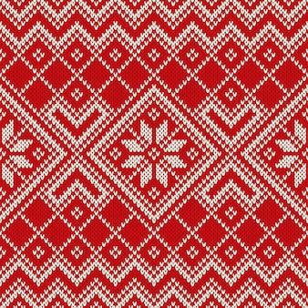 Рождественский дизайн свитера. бесшовные модели