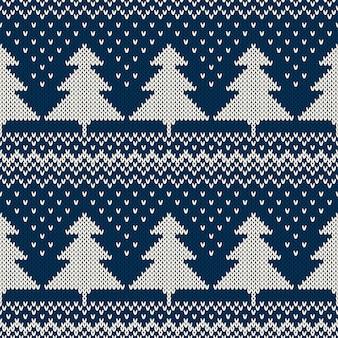 Рождественский свитер. бесшовный фон с елками