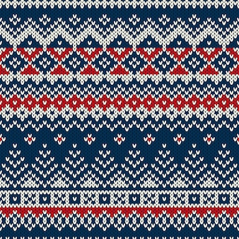 Christmas sweater. seamless pattern with christmas trees