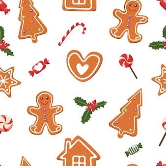 Рождественские сладости. бесшовные модели