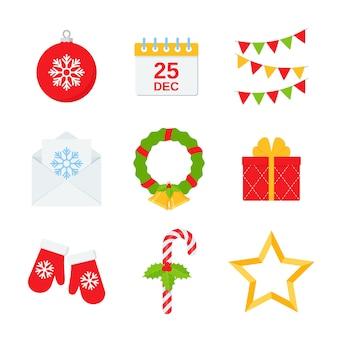 Рождественский дизайн символа