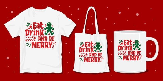 Christmas t-shirt merchandise design