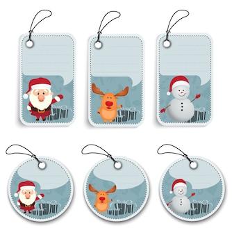 Christmas tags and label