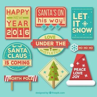 Рождественские теги ничуть хороший пакет сообщение