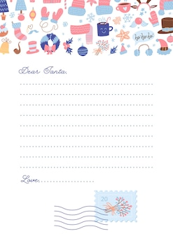 Christmas template letter to santa claus.
