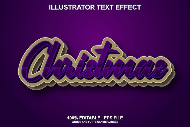 Christmas text effect editable