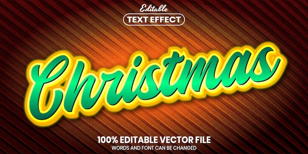Christmas text, font style editable text effect