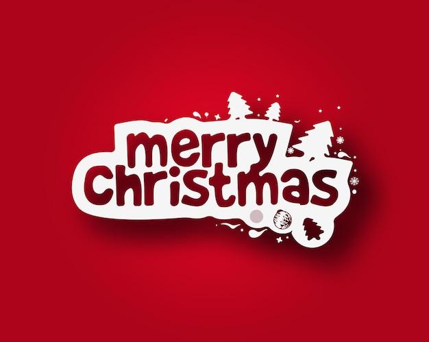 크리스마스 문자 메시지 구성 디자인입니다.