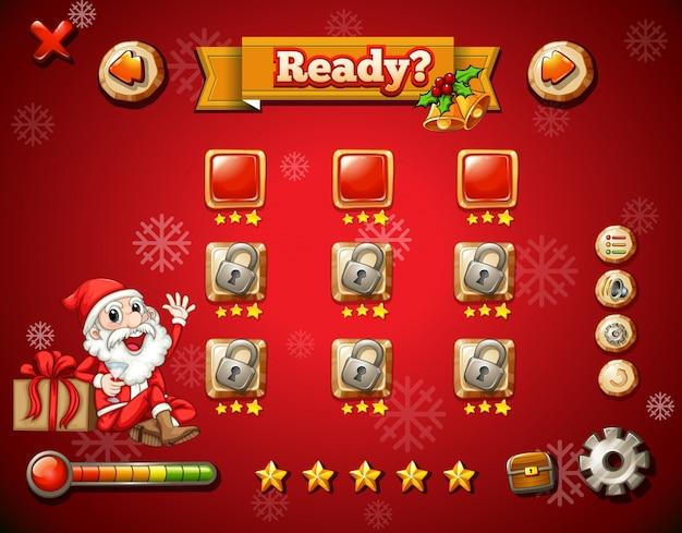 Christmas theme on computer game