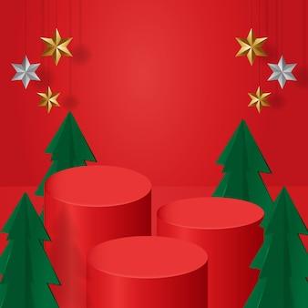 クリスマステーマ表彰台展示商品