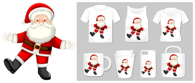 Christmas theme santa claus on many products