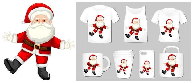 多くの製品のクリスマステーマサンタクロース