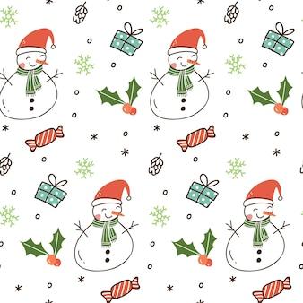 Christmas theme seamless background
