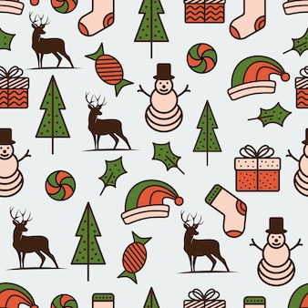 Christmas theme seamless pattern background vector