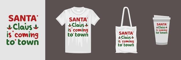 クリスマスをテーマにしたtシャツのデザイン。 tシャツ、マグカップ、ギフト、その他の印刷に適しています。