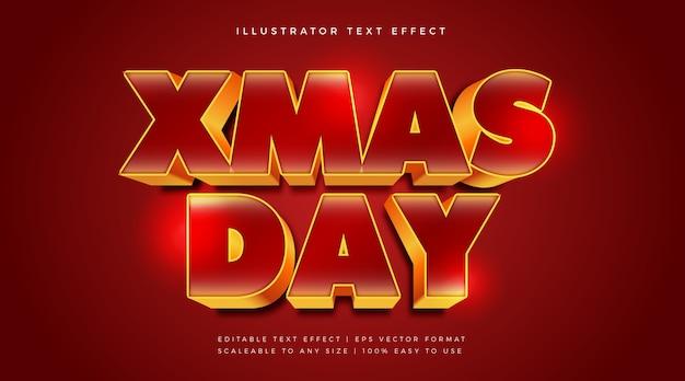 Эффект шрифта в стиле текста в рождественской теме